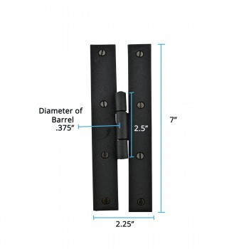 "spec-<PRE>2 Forged Iron Door Flush Hinge H Style 7"" H </PRE>"