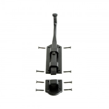 <PRE>Slide Bolts Black Wrought Iron Tower Style Set of 2 </PRE>zoom4