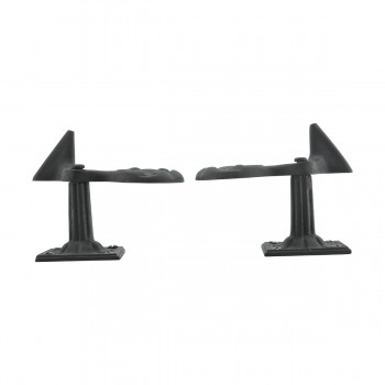 <PRE>6 Pair Shutter Dog Black Wrought Iron Seashell Wood Mount </PRE>zoom8