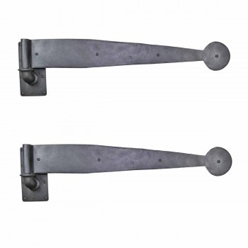 2 Bean Pintle Strap Door Hinge Wrought Iron 28