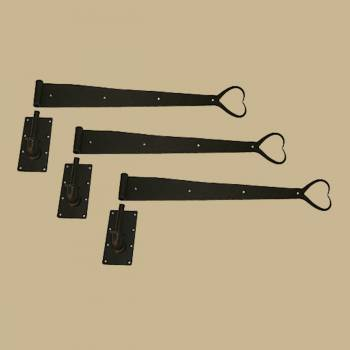 <PRE>3 Pintle Strap Door Hinge Heart Tip Black Wrought Iron 34inch </PRE>zoom2