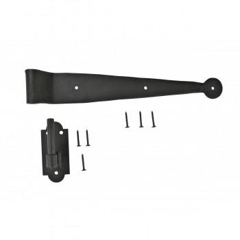 Strap Hinge Pintle Shutter Hinge Offset Wrought Iron 1134 in. Set of 4 Shutter Dog Shutter Hardware Shutter Dogs