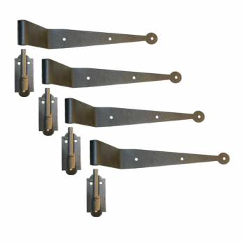 Strap Hinge Pintle Shutter Hinge Offset Wrought Iron 11-3/4 in. Set of 436009grid