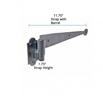 spec-<PRE>Strap Hinge Pintle Shutter Hinge Offset Wrought Iron 11-3/4 in. Set of 4</PRE>