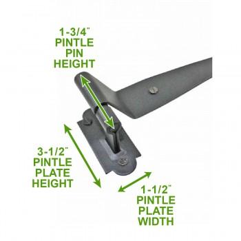 spec-<PRE>2 Offset Pintle Shutter Strap Hinge Wrought Iron 11 3/4&quot; </PRE>