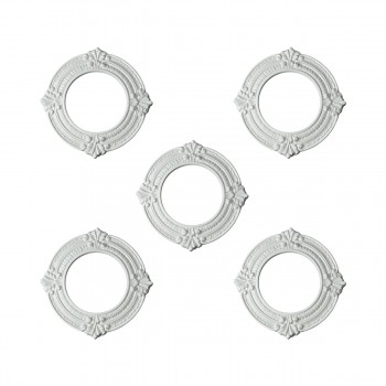 5 Spot Light Trim Medallions 6 ID Urethane White Set of 5 Light Medallion Light Medallions Lighting Medallion