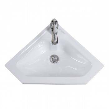 <PRE>Modern Bathroom Wall Mount Corner Sink White Single Faucet Hole with Overflow</PRE>zoom3
