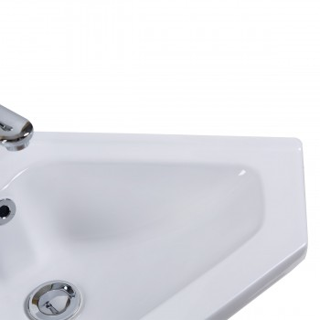 <PRE>Modern Bathroom Wall Mount Corner Sink White Single Faucet Hole with Overflow</PRE>zoom6