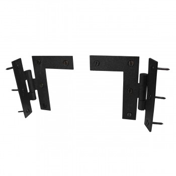 Wrought Iron Cabinet Hinges - Black - Left and Right - Colonial Style Pack of 2