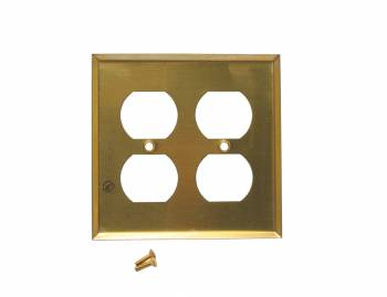 <PRE>Switch Plate Bright Solid Brass Double Gang Outlet Wall Plate Pack of 2</PRE>zoom3