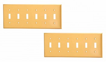 <PRE>2 Switch Plate Brushed Solid Brass Six Toggle </PRE>zoom1