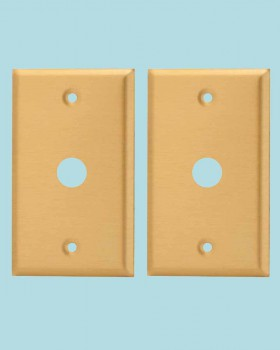 <PRE>2 Switch Plate Brushed Solid Brass 5/8inch ID Phone </PRE>zoom2