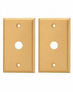 <PRE>2 Switch Plate Brushed Solid Brass 5/8inch ID Phone </PRE>zoom1
