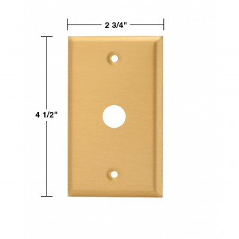 spec-<PRE>2 Switch Plate Brushed Solid Brass 5/8&quot; ID Phone </PRE>