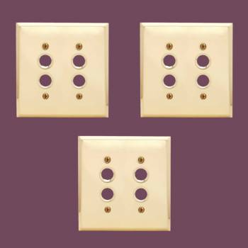 <PRE>Switch Plate Brushed Solid Brass Double Push Button Pack of 3</PRE>zoom2