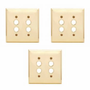 <PRE>Switch Plate Brushed Solid Brass Double Push Button Pack of 3</PRE>zoom1