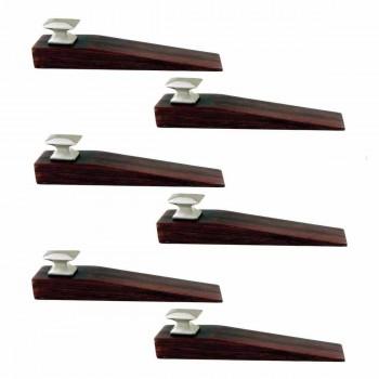 <PRE>6 Door Wedge Solid Mango Wood Satin Brass Knob Cherry </PRE>zoom1
