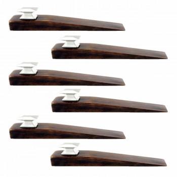 6 Mission Brown Hardwood Brown Walnut Finish Wedge Satin Nickel finish