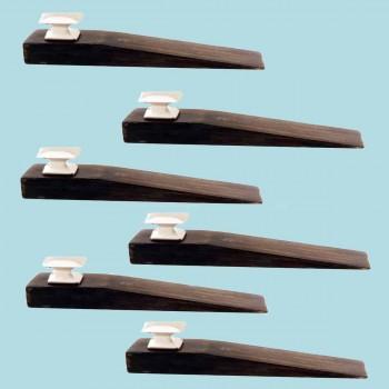 <PRE>6 Door Wedge Solid Mango Wood Satin Brass Knob Black </PRE>