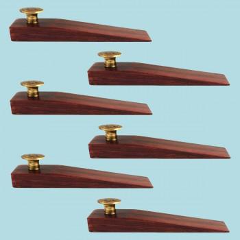 <PRE>6 Door Wedge Solid Mango Wood Antique Brass Knob Cherry </PRE>