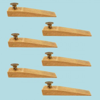 <PRE>6 Door Wedge Solid Mango Wood Antique Brass Knob Natural </PRE>zoom2