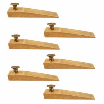<PRE>6 Door Wedge Solid Mango Wood Antique Brass Knob Natural </PRE>zoom1