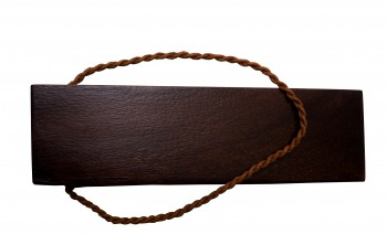 <PRE>6 Door Wedge Solid Mango Wood Leather Hanging Loop Brown </PRE>zoom3