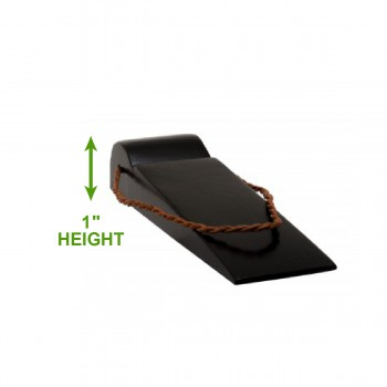spec-<PRE>6 Black Door Wedge Solid Mango Wood Hanging Leather Loop </PRE>