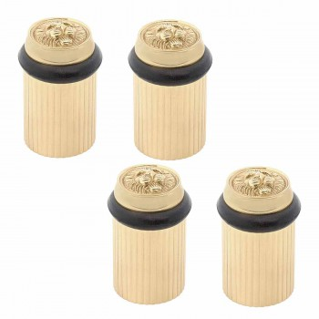 4 Brass Door Stop Floor Mount BumperLion Head Floor Stop Door Stop Door Bumper
