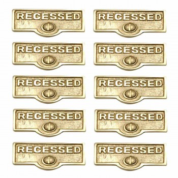 <PRE>10 Switch Plate Tags RECESSED Name Signs Labels Solid Brass </PRE>zoom1