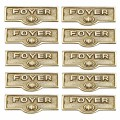 Polished Brass Switchplate Tags