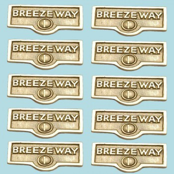 10 Switch Plate Tags BREEZEWAY Name Signs Labels Solid Brass Switch Plate Labels Switch Plate ID Labels Switch Plate Label