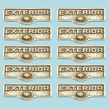 <PRE>10 Switch Plate Tags EXTERIOR Name Signs Labels Brass </PRE>zoom2