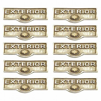<PRE>10 Switch Plate Tags EXTERIOR Name Signs Labels Brass </PRE>zoom1