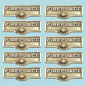 10 Switch Plate Tags FIREPLACE Name Signs Labels Brass Switch Plate Labels Switch Plate ID Labels Switch Plate Label