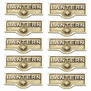 10 Switch Plate Tags LANTERN Name Signs Labels Lacquered Brass Switch Plate Labels Switch Plate ID Labels Switch Plate Label