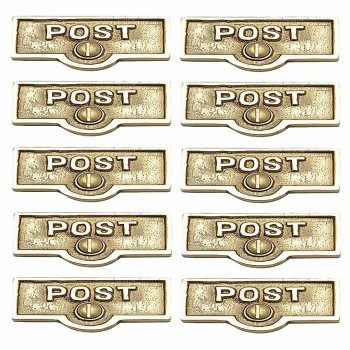 <PRE>10 Switch Plate Tags POST Name Signs Labels Lacquered Brass </PRE>zoom1
