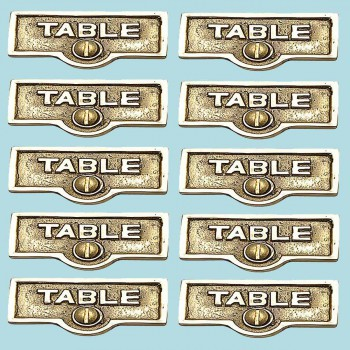spec-<PRE>10 Switch Plate Tags TABLE Name Signs Labels Lacquered Brass </PRE>