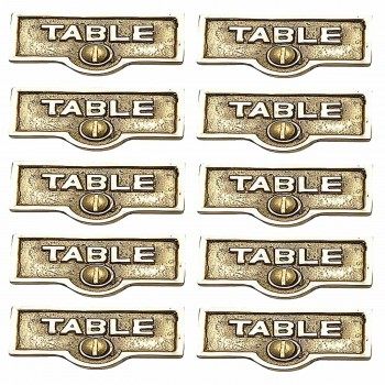 <PRE>10 Switch Plate Tags TABLE Name Signs Labels Lacquered Brass </PRE>zoom1