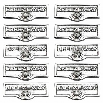 <PRE>10 Switch Plate Tags BREEZEWAY Name Signs Labels Chrome Brass </PRE>zoom1