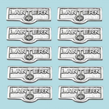 <PRE>10 Switch Plate Tags LANTERN Name Signs Labels Chrome Brass </PRE>zoom2