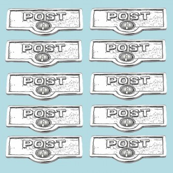 10 Switch Plate Tags POST Name Signs Labels Chrome Brass Switch Plate Labels Switch Plate ID Labels Switch Plate Label