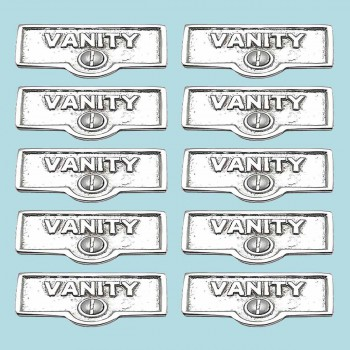 10 Switch Plate Tags VANITY Name Signs Labels Chrome Brass Switch Plate Labels Switch Plate ID Labels Switch Plate Label