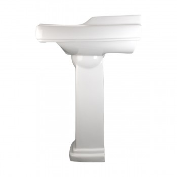 <PRE>White Pedestal Sink Grade A Vitreous China Scratch Resistant Set of 2</PRE>zoom5