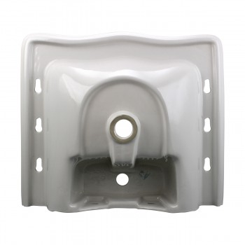 <PRE>White Pedestal Sink Grade A Vitreous China Scratch Resistant Set of 2</PRE>zoom7