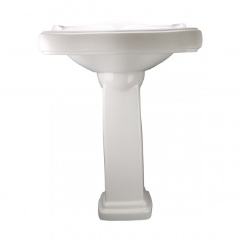 <PRE>White Pedestal Sink Grade A Vitreous China Scratch Resistant Set of 2</PRE>zoom12
