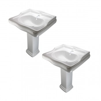 <PRE>White Pedestal Sink Grade A Vitreous China Scratch Resistant Set of 2</PRE>zoom1