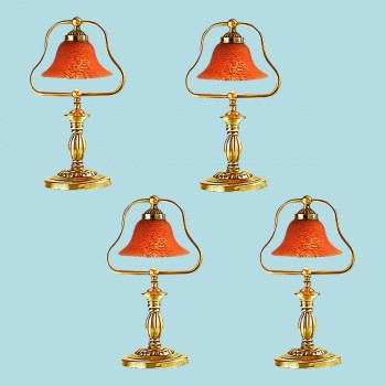<PRE>4 Table Lamp Amber Polished Brass Table Lamp 17inchH </PRE>zoom2