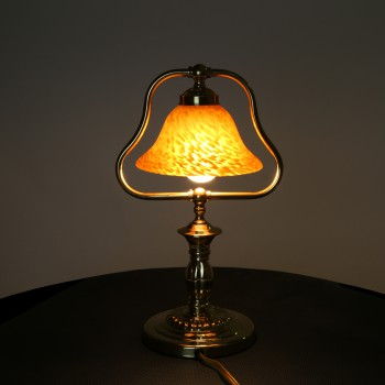 <PRE>4 Table Lamp Amber Polished Brass Table Lamp 17inchH </PRE>zoom4