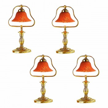 <PRE>4 Table Lamp Amber Polished Brass Table Lamp 17inchH </PRE>zoom1